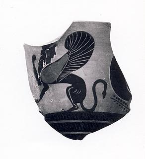 Kyathos med øje og sfinx. Græsk