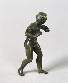 Statuette af en dansende (?) ung mand. Etruskisk