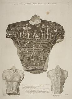 Statuer med hieroglyffer