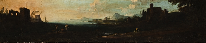 En kyst med bygninger