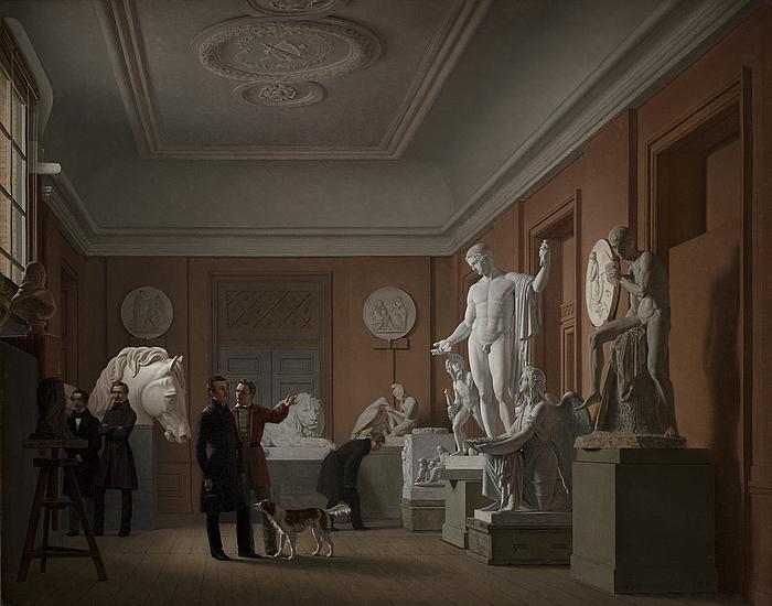 J.V. Gertner, Thorvaldsens atelier på Charlottenborg, 1836