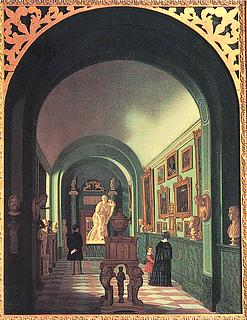 Johan Gustaf Köhler: Inre galleriet, 1844 - Public domain