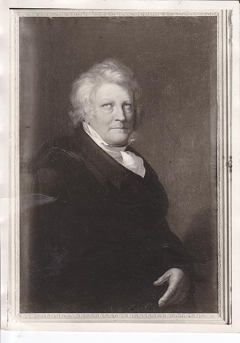 Ehregott Grünler: Portræt af Thorvaldsen, 1829