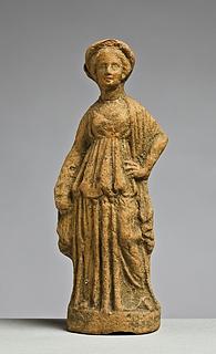Statuette af en kvinde. Vestgræsk
