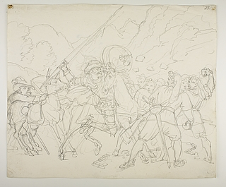 Don Quixote rammes af fårehyrdernes sten