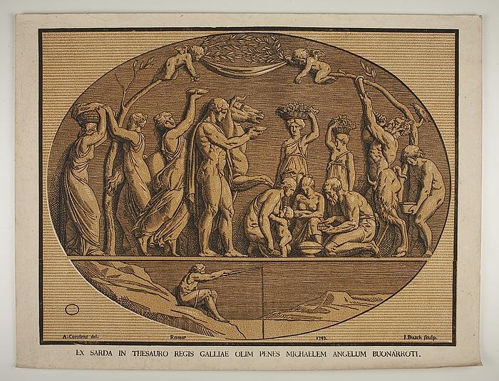 """Bacchanal også kendt som """"Michelangelos signetring"""""""