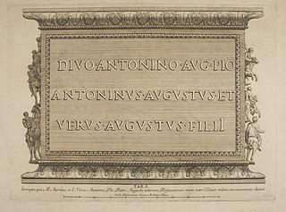Indskrift fra Marcus Aurelius søjlens base