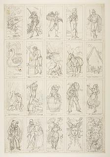 Fiskeren, jægeren, ballerinaen, Bacchus, Pulcinella, Medusas hoved m.fl.