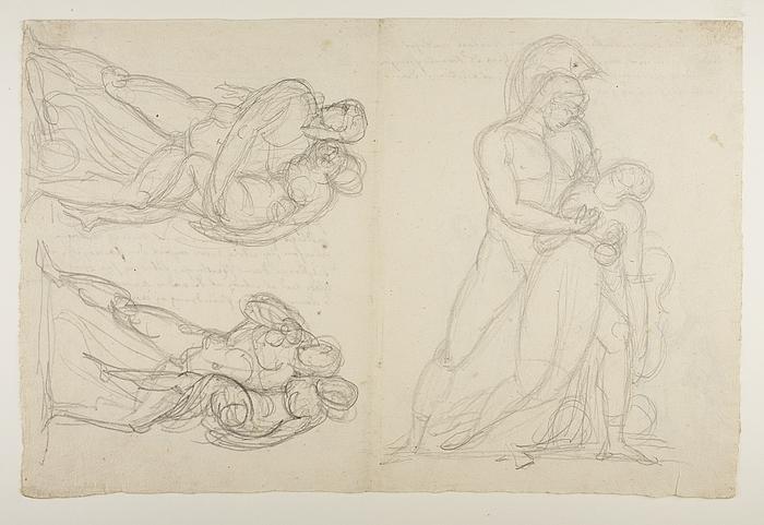 Achilleus og Penthesilea. Mand der bærer en kvinde