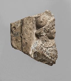 Campanarelief med hoved af Athene. Romersk