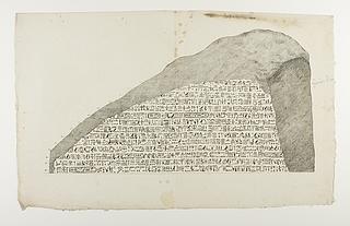 Hieroglyfisk inskription som bilag til Adolf Heinrich Friedrich Schlichtegrolls afhandling om Rosettestenen