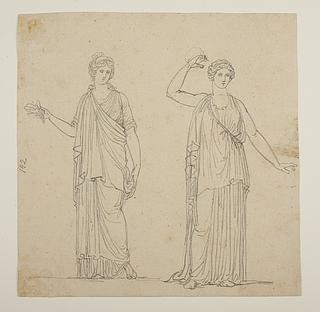 To romerske kvindestatuer