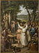 J.L. Lund: Offerscene fra Odinsk tid, 1827, olie på lærred, 370 x 272 cm. Statsrådssalen. Christiansborg Slot. Foto Ole Haupt