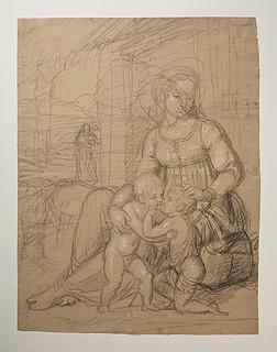 Bertel Thorvaldsen: Maria med Jesus og Johannes, 1807-10 (Copyright tilhører Thorvaldsens Museum)