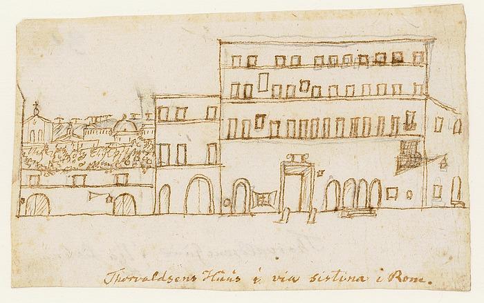 H.C. Andersen: Thorvaldsens Huus i via sistina i Rom