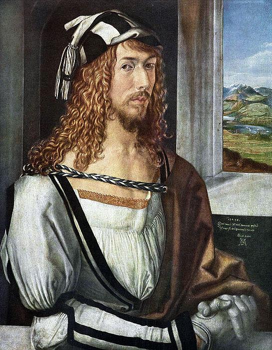 Albrecht Dürer, selvportræt, 1498