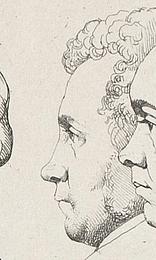 Ernst Meyer: 12 portrætter, Rom 1825, detalje Koop