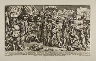 P. Scipio Romani exercitus imperator expugnata novà Carthagine ( Scipio Africanus' afholdenhed )