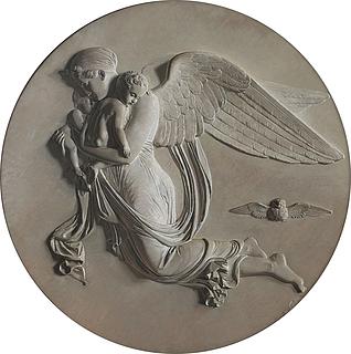 Christen Købke: Natten efter Thorvaldsens relief, 1834-35