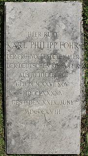Gravmæle for K.P. Fohr, Cimitero Acattolico, Rom, parte antica, no. 73