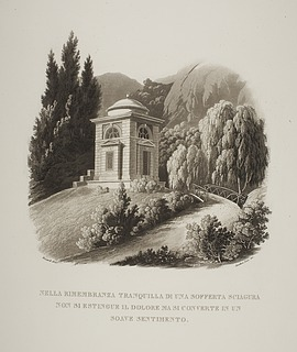 Tempel bygget som mindesm?rke over Julius (Giulio) Mylius i haven til Villa Vigoni