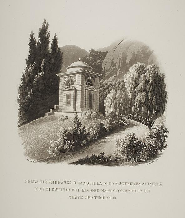 Tempel bygget som mindesmærke over Julius (Giulio) Mylius i haven til Villa Vigoni