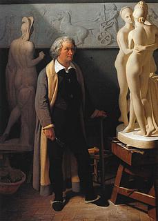 Ditlev Blunck: Thorvaldsen i sit romerske atelier, 1834. Olie på lærred. 139 x 102 cm. Kunsthalle zu Kiel
