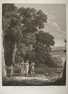 Landskab med Cephalus og Procris genforenet af Diana