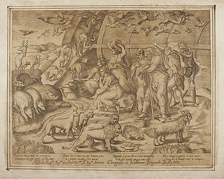 Noah og dyrene forlader arken