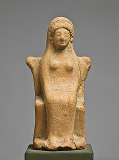 Statuette af en siddende kvinde. Østgræsk (?)