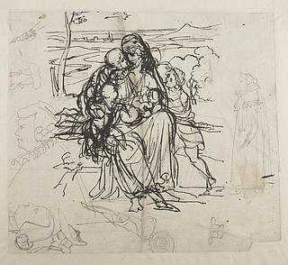 Bertel Thorvaldsen: Caritas med fire børn. Protestantisk præst. Præstehoveder, ca. 1804 (Copyright tilhører Thorvaldsens Museum)