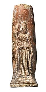 Lampefod med Minerva. Romersk