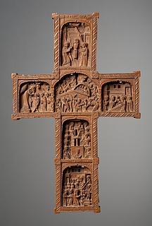 Kors med 20 nygræske religiøse fremstillinger