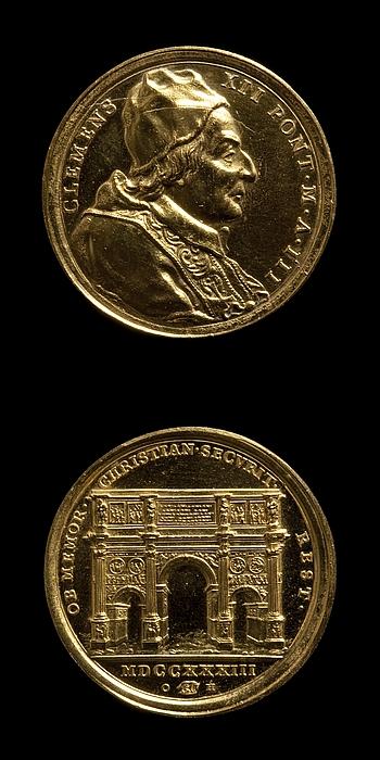 Medalje forside: Clemens 12. Medalje bagside: Konstantin-buen