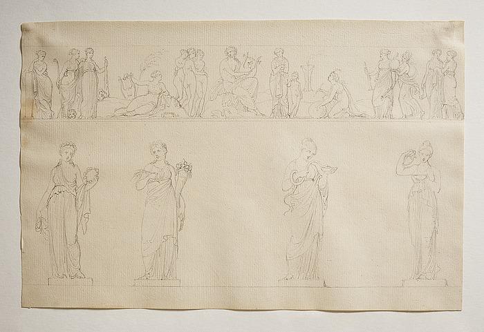 Apollon, Gratierne og Muserne