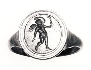 Eros løbende med en fakkel. Hellenistisk-romersk ringsten
