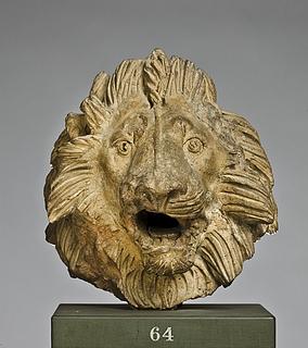 Arkitektonisk dekoration i form af et løvehoved. Romersk