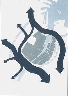 Som den gennemkørende trafik kan blive efter anlæg af havnetunnelen og trafiksanering i Indre By. Indre By og Havnetunnelen.