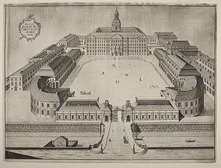 Christiansborg med staldbygningerne
