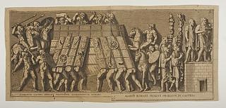 Romerske soldater angriber en fæstning