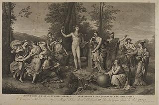 Apollo og muserne på Parnasset