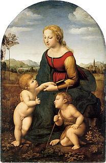 Raffaello Sanzio: La Belle Jardinière, 1505-08 (Public domain)