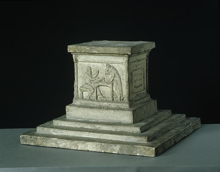 Skitse til Gutenberg-monumentets sokkel