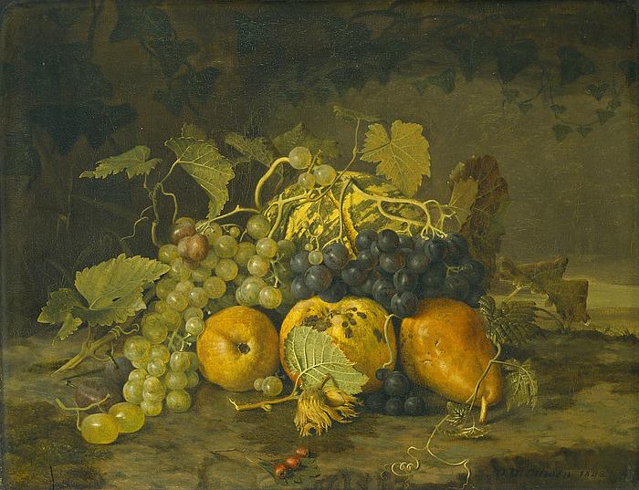 Nature morte med frugter