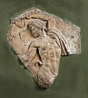 Campanarelief med dansende satyr. Romersk