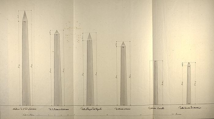 Fem obelisker