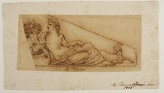 La Terra. Skitse til figur i Råd- og Domhuset, senere bestemt til Christiansborg Slots fronton