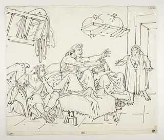 Don Quixote taler med Maritornes