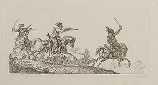 Fægtning mellem kosakker og andre ryttere