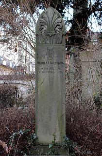 Nikolaj Krossings grav, Assistens Kirkegård, København, foto 2016